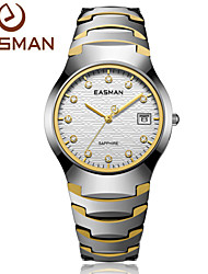 EASMAN Mens Tungsten Steel Watches Luxury Sapphire Glass Waterproof Date Show Dress Business Wrist Watches for Men