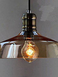 Simple Retro Industrial Glass Pendant Lamp