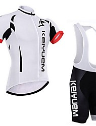 KEIYUEM® Cycling Jersey with Bib Shorts Unisex Short Sleeve BikeWaterproof / Breathable / Quick Dry / Windproof / Insulated / Rain-Proof
