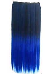 Clip in Synthetic Straight Hair Extensions with 5 Clips Two Tone Color Synthetic Extensions.