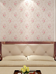 Arttop®Floral Wallpaper Contemporary Wall Covering , Non-woven Paper 3D wallpaper Non-Woven Paper