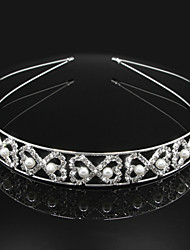 Full Crystal with Pearl Heart Shape Hair Accessories for Wedding Hair Jewelry Headband