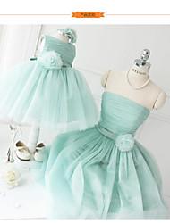 Ball Gown Knee-length Flower Girl Dress - Tulle Sleeveless