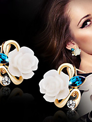 Women's Stud Earrings Costume Jewelry Alloy Flower Jewelry For Wedding Party Daily