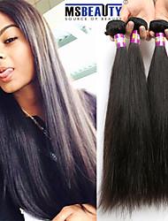 """4 unidades / lote 8 """"-30"""" cabelo 7a peruano cabelo virgem reta humano tramas 100% Remy peruano não transformados tece cabelo"""