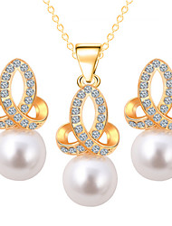 Fashion Zircon Shining Jewelry Set(Necklace&Earring)