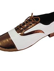 Sapatos de Dança ( Castanho / Vermelho ) - Homens - Customizáveis - Latim / Moderno / Salsa