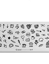 1pcs manicure chapa de impressão manicure ferramenta rectangular hot stamp 8