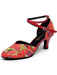 Женская обувь - Кожа - Номера Настраиваемый ( Красный ) - Латино