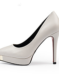 Women's Shoes Metal Toe Stiletto Heel Fashion Shoes Wedding/Banquet/Dresses Red/Black/White