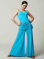 Imported Nylon Viscose with Pleated Latin Dance Outfits fopr Women's Performance(More Colors)