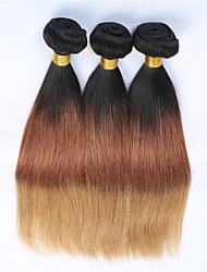 Ombre Hair Weaves Brazilian Texture Straight 3 Pieces hair weaves