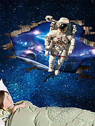 Wall Stickers Wall Decals, 3D Kids Room Outer Space Spaceman PVC Wall Stickers