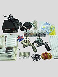 2 Gun BaseKey Tattoo Kit 218 Machine With Power Supply Grips Cups Needles(Ink not included)