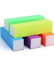 1pcs fluorescence lime à ongles de fichier cuboïde coeur blanc quatre éponge cuboïde bloc de ponçage de tofu (5 couleurs en option)