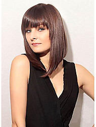 New Arrival Medium Straight Human Virgin Remy Hand Tied-Top Capless Hair Wigs