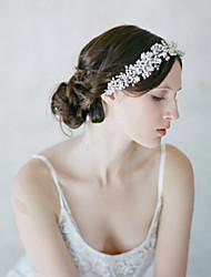 Bride's Flower Imitation Pearl Forehead Wedding Headbands 1 Pieces