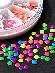 1pcs  Nail Circular Fluorescent Color Rivet