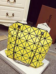 Feminino Couro Ecológico Casual Bolsa de Ombro Branco / Azul / Amarelo / Vermelho