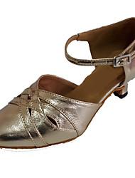 Chaussures de danse(Or) -Personnalisables-Talon Personnalisé-Cuir-Moderne