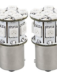 2 x lampe ampoule 1 156 13 5050 SMD 12v BAU15S Amber LED