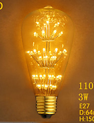 ST64LED Starry 3W 110V Edison Bulb MTX Edison Light Bulb Decoration