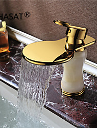 Widespread Single Handle One Hole in Ti-PVD Bathroom Sink Faucet