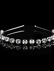 Women's Alloy Headpiece-Wedding / Special Occasion Tiaras 1 Piece Clear