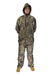 Ourdoor Camouflage Suits , Waterproof Camo Shell Fleece Jacket Suits for Hunting Fishing(Jacket+Suspender Trousers)