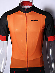 Cycling Tops / Jerseys / Compression Clothing Men's Bike Anti-Eradiation / Wearable / Limits Bacteria / Sweat-wicking Short SleeveHigh