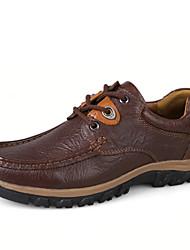 Men's Shoes Casual Leather Oxfords Black / Brown / Khaki