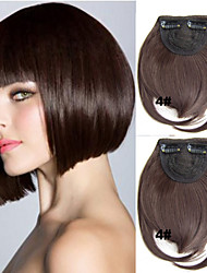 Most Popular Clip in Synthetic Bang with Full Bang Medium Brown Color