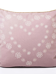 Coton Housse de coussin , Floral Décoratif
