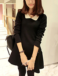 Women's New Doll Collar Long Sleeve Dress