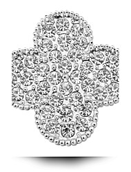 Clover Brooch Alloy Electroplating