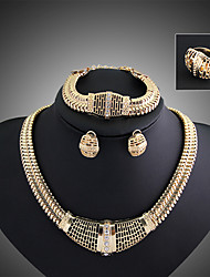 Shinning Women's Fashion Beautiful Necklace Bracelet Ring Earring Suit