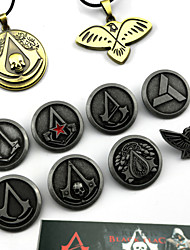 Jewelry Inspired by Assassin's Creed Connor Anime/ Video Games Cosplay Accessories Necklace / Badge / More Accessories Silver AlloyMale /