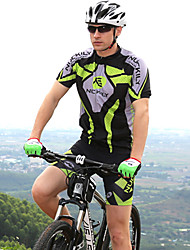 NUCKILY® Camisa com Shorts para Ciclismo Unissexo Manga Curta MotoImpermeável / Respirável / Design Anatômico / Resistente Raios
