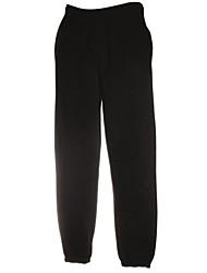 Pantalon de Sport Pour des hommes Couleur plaine Décontracté / Travail / Sport Coton / Polyester Noir / Bleu / Gris