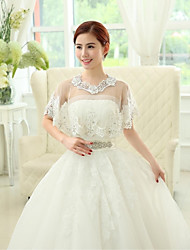 Wedding / Party/Evening Lace / Tulle / Sequined Capelets Sleeveless Wedding  Wraps