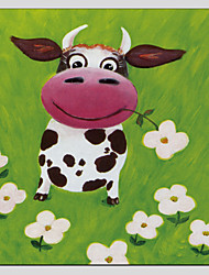 Children Oil Paintings Cow Style,Canvas Material With Wooden Stretcher Ready To Hang SIZE:70*70CM.