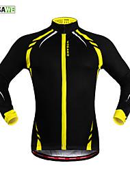 WOSAWE Cycling Jacket Unisex Bike Jacket Jersey TopsThermal / Warm Windproof Fleece Lining Reflective Strips