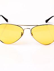 Gafas de Sol Unisex's Ligeras / Moda / Polarizada Aviador Color Beige Conducción / Gafas de visión nocturna Completo llanta