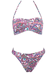 Women's Vintage Indian Totem Halter  Beach Swimwear Bikini