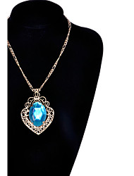 May Polly  Fashion Diamond Gemstone Pendant Necklace