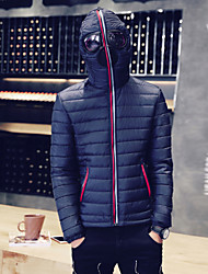 Men's Regular Padded Coat , Cotton Pure Long Sleeve Warm and wind with the lens personality jacket