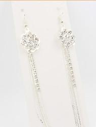 Girl's Diamond Wheel Flower Tassel Earrings