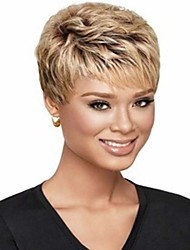 Stylish Party Wig Mix Color Short Curly Synthetic Hair