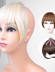 ty.hermenlisa clipe no cabelo bang calor sintético franja de cabelo fibra resistente extensões postiços, 1 pc, 20g