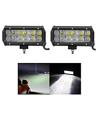 2x 60W LED Work Light Bar Offroad 12V 24V ATV Flood Offroad for  Truck 4x4 UTV
